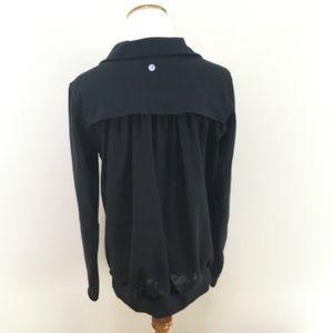 Lululemon Tadasana Black Mesh Back Full Zip Jacket